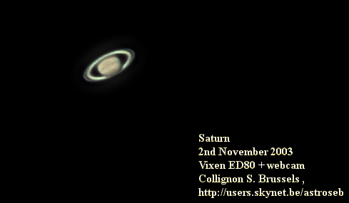 Saturn, webcam
