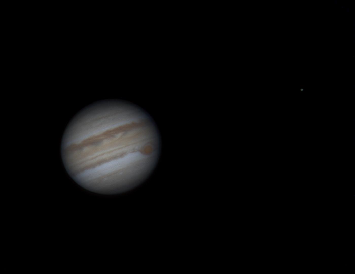 Jupiter and Saturn 17th May-because shooting through clould is   fun