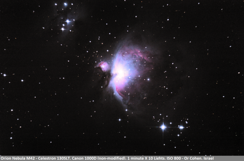 Orion Nebula - Using Celestron 130SLT