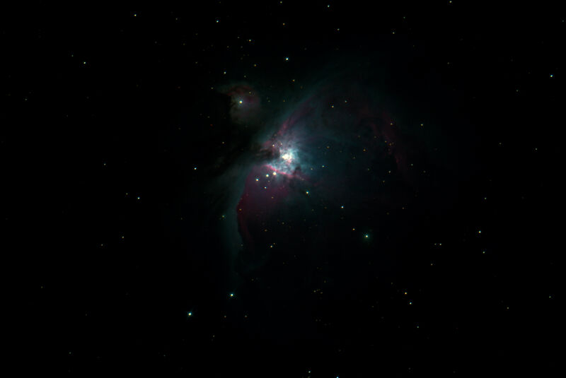 M42 DSS Stacked Photoshop with star reduction