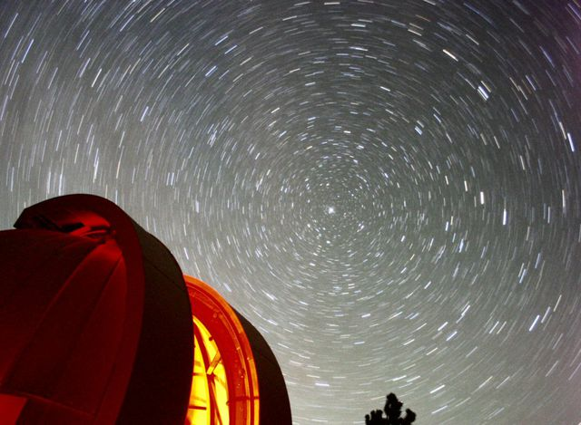 STAR TRAILS OVER STAR HILL OBSERVATORY