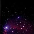 Horsehead Nebula w/ Geminid Meteor