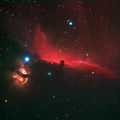 The Horsehead and Flame Nebulas in Orion