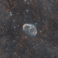 NGC 6888 bicolor with a hint of soap bubble