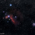 widefield image of the horsehead nebula and M42