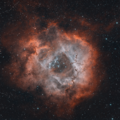 Rosette from my new remote observatory. Tilt issue : (