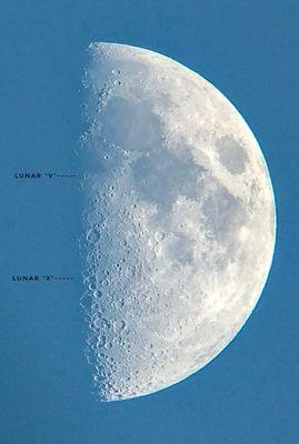 Lunar X and V