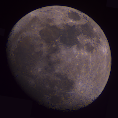 Moon color mosaic taken 12/26