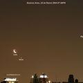 Moon Venus Mars Pleiades