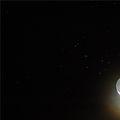 Moon & Pleiades  Apr 8, 2008