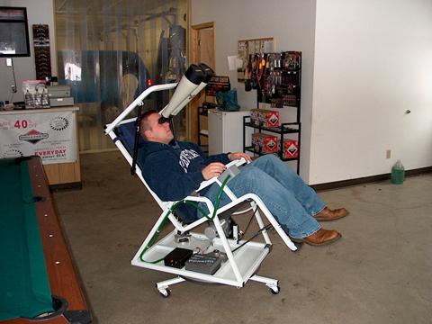 Homebuilt bino chair 2