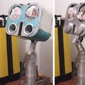 Home made big binocular 40X203mm