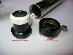 "1.25"" eyepiece - focuser adapter for vintage refractors with 0.965"" original ep"