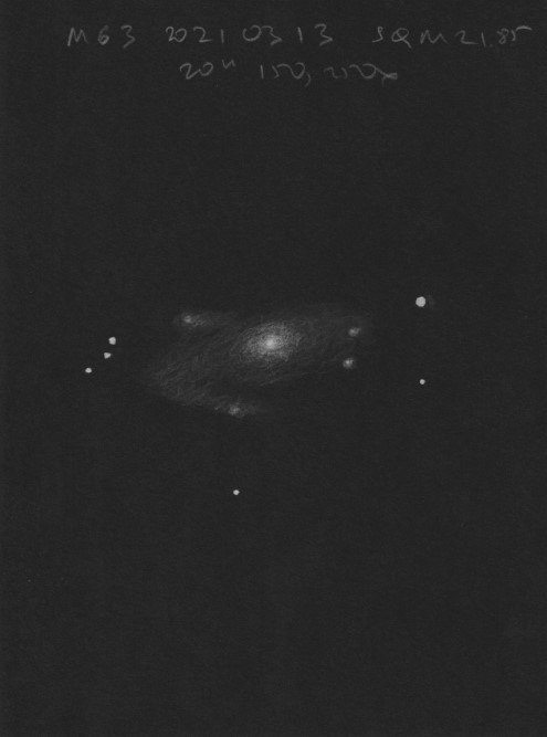 March 2021 Sketching Contest Winner: Messier 63 Galaxy by Ivan Maly