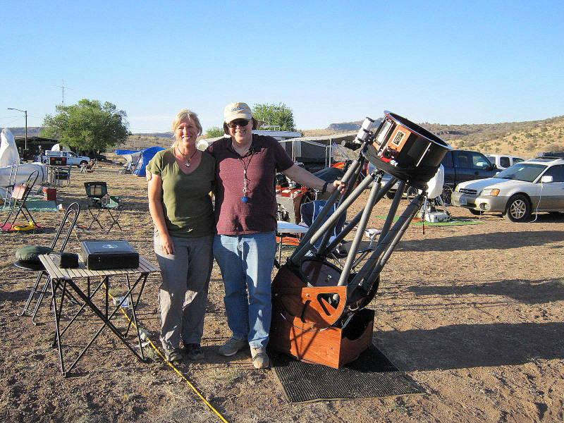 6317971-Dave & Erika Rix with Dave's 15-inch Dob at the 2013 TSP.jpg