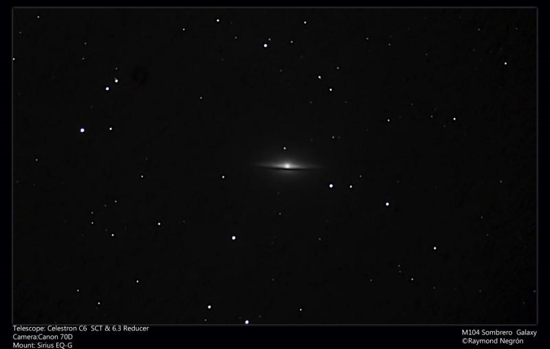 My First Try M104 Sombrero Galaxy Dslr Digital Camera Astro