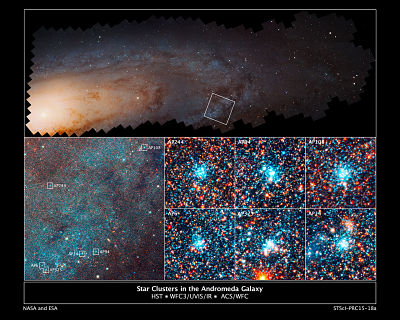 Star Clusters in the Andromeda Galaxy ESA-Hubble_opt.jpg