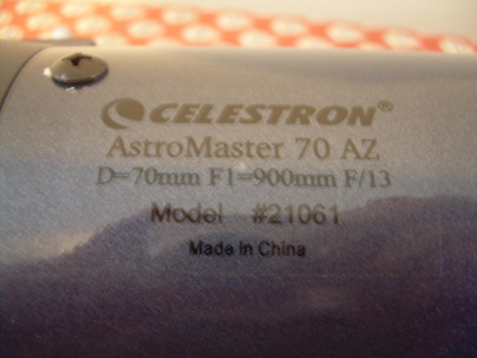 For sale celestron astromaster az refractor telescope
