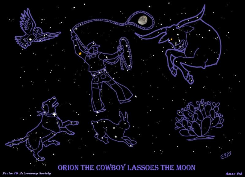 Orion the Cowboy Lassoes the Moon with Dog Bevo and Owl 03072021.JPG