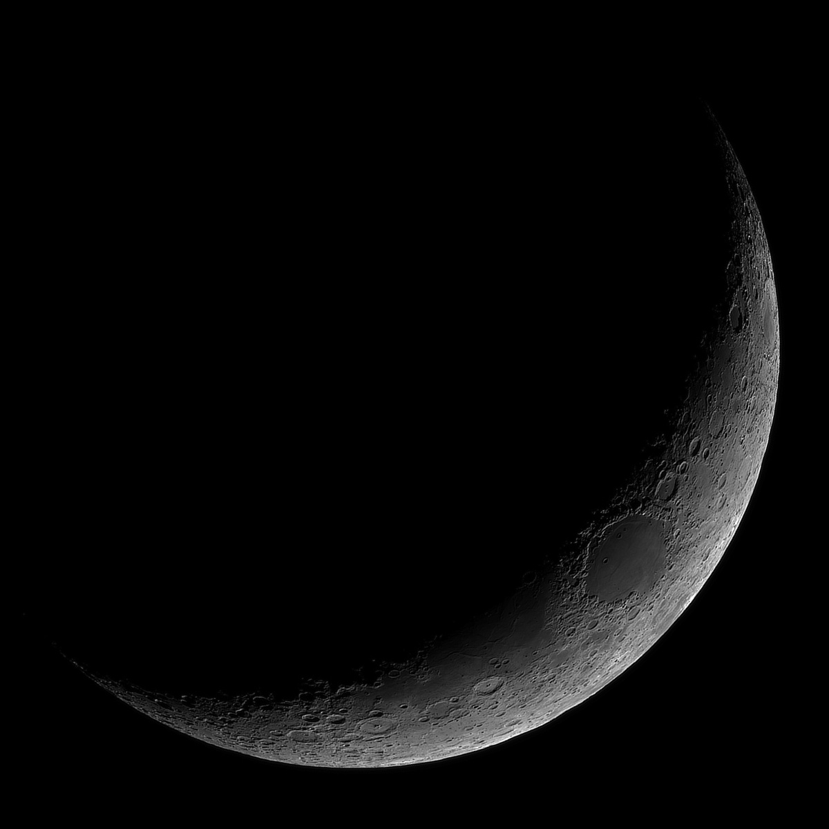 Crescent Moon High Resolution