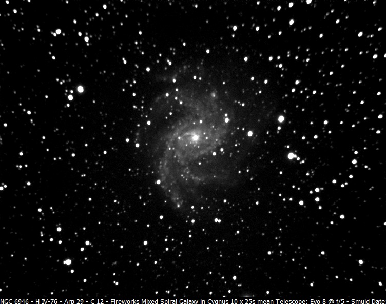 Supernova - NGC6946 at magnitude 12.6 - EAA Observation ...