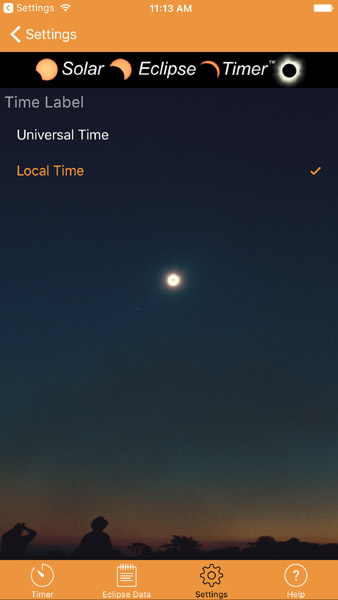 Android and iOS Solar Eclipse Timer Apps Are Done! - Vendor