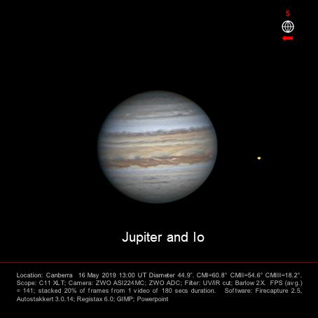 Jupiter and Io 16 May 2019.png