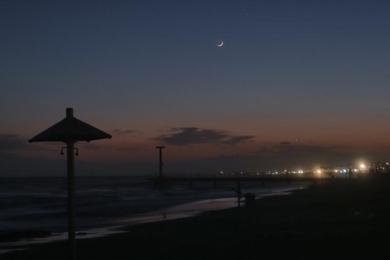 Venere Luna Mercurio 13mag2021 Canon 6D + 55mm f7.1 1s 200iso 21.09h LT.jpg
