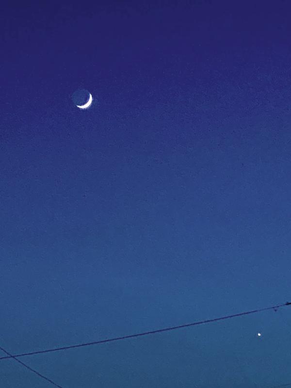 Crescent Moon & Venus iPhone 6-6-21 Burger King IMG_4800 Processed Resized 1000.jpg