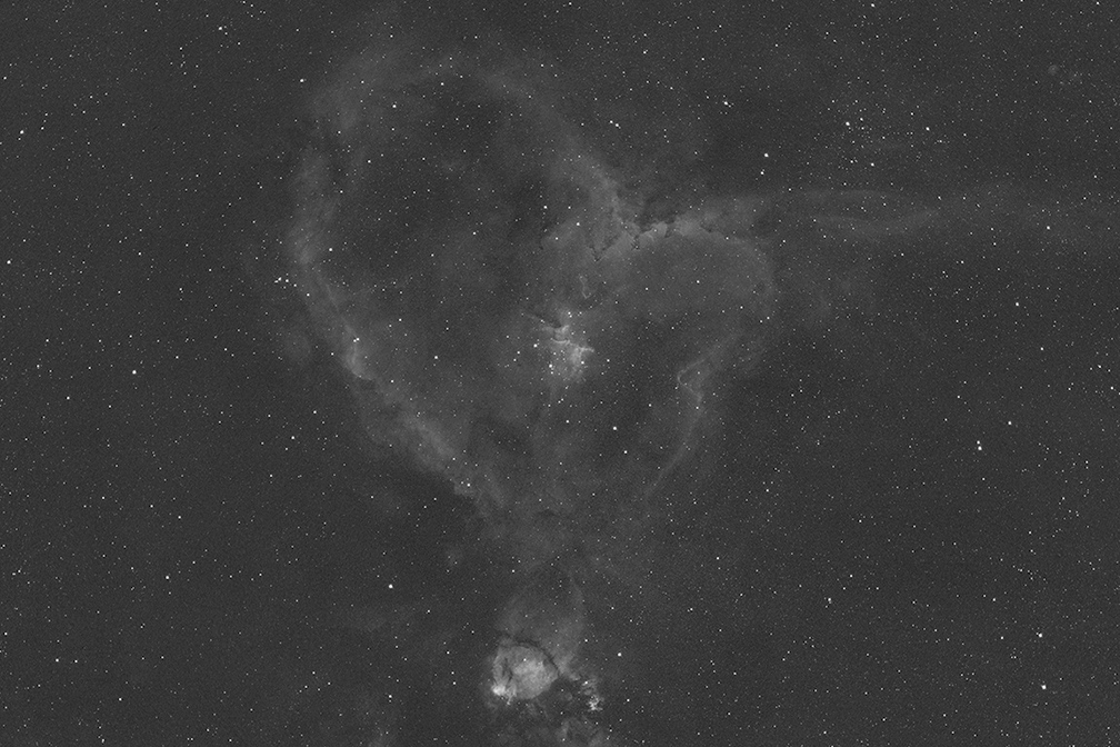 full-spectrum nikon d5300. h-alpha tests of pacman & heart nebula ...