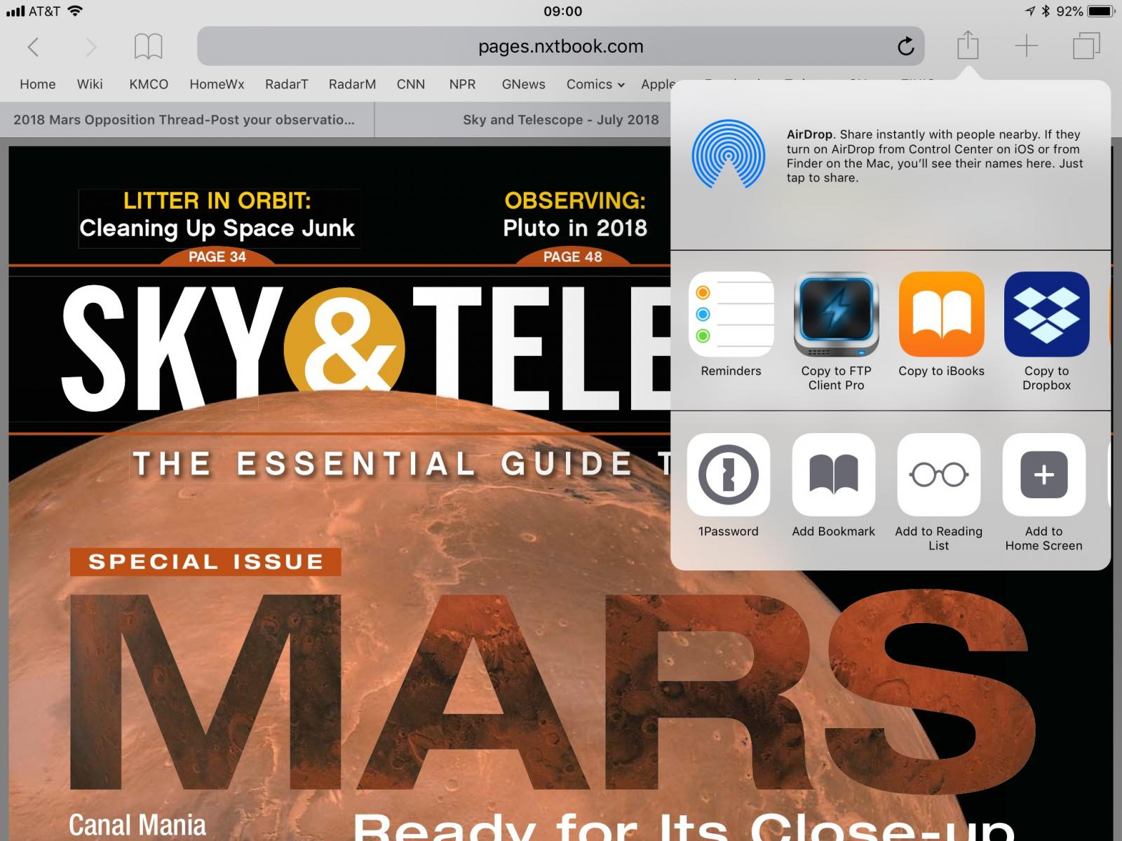 Sky & Telescope digital edition, nxt etc questions - Astro Art