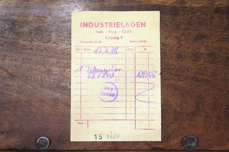 Zeiss Telementor 2 von 1978 Verkaufsrechnung_01re.jpg