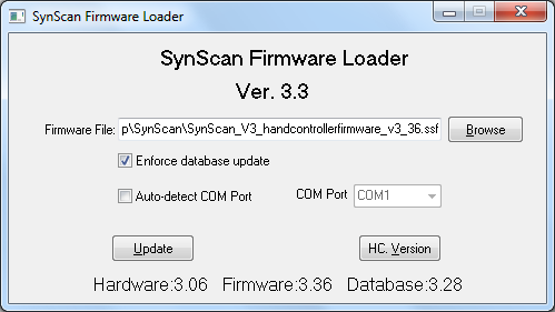 SynScan 3 38 Firmware - Mounts - Cloudy Nights