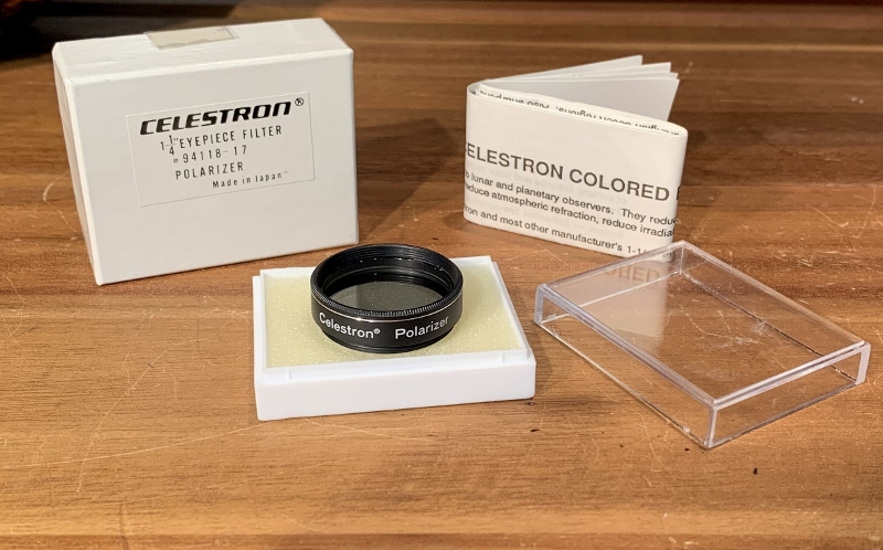 POLARIZER FILTER with CASE /& Box