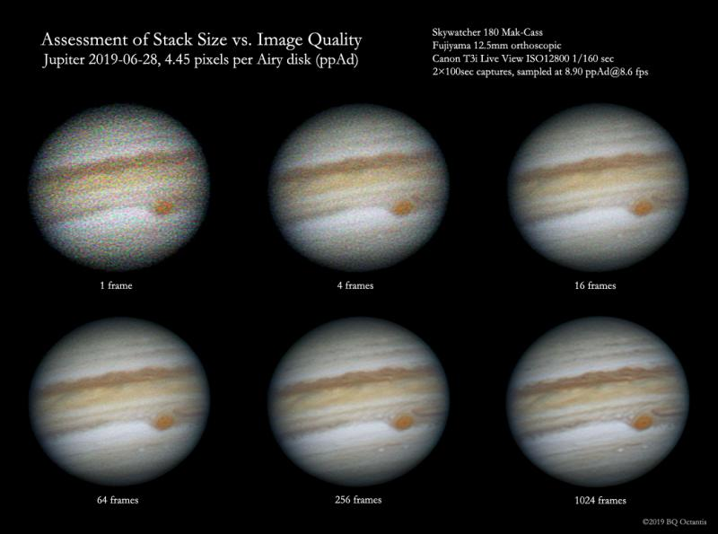 Stack Count Lesson From Jupiter and a T3i - DSLR & Digital