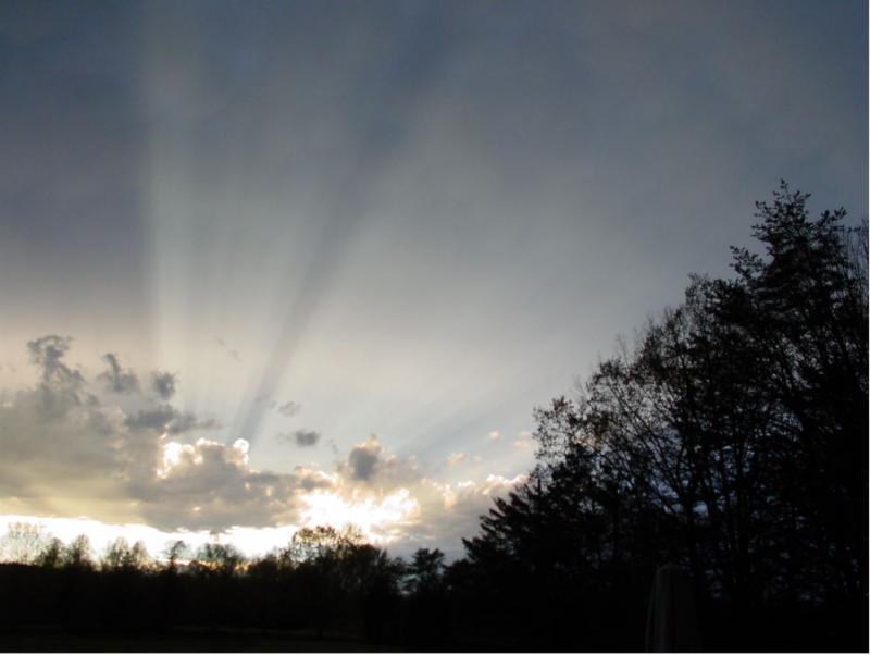 3-24-2010 Sunset Shadows - WEST VIEW DSC00715 sml.JPG