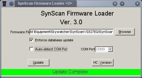 Updating Synscan firmware in Linux - Astronomy Software & Computers