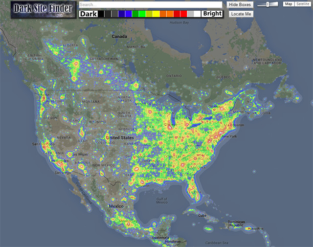 The New DarkSiteFinder com - Light Pollution - Cloudy Nights