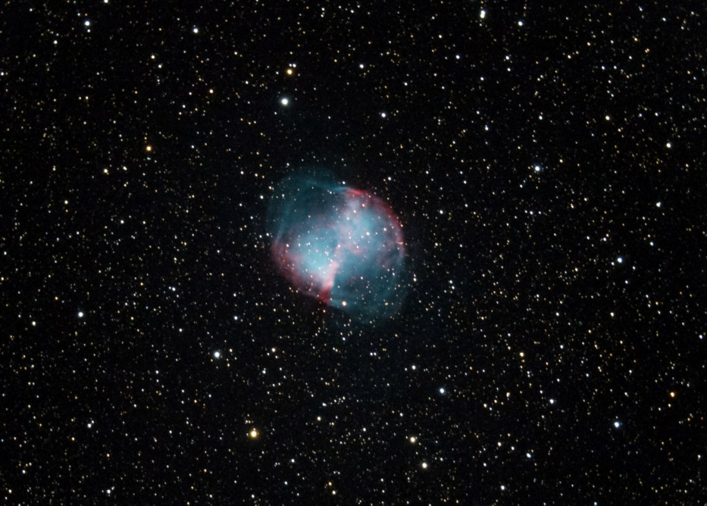 Dumbbell Nebula with Canon EOS 60D - DSLR & Digital Camera