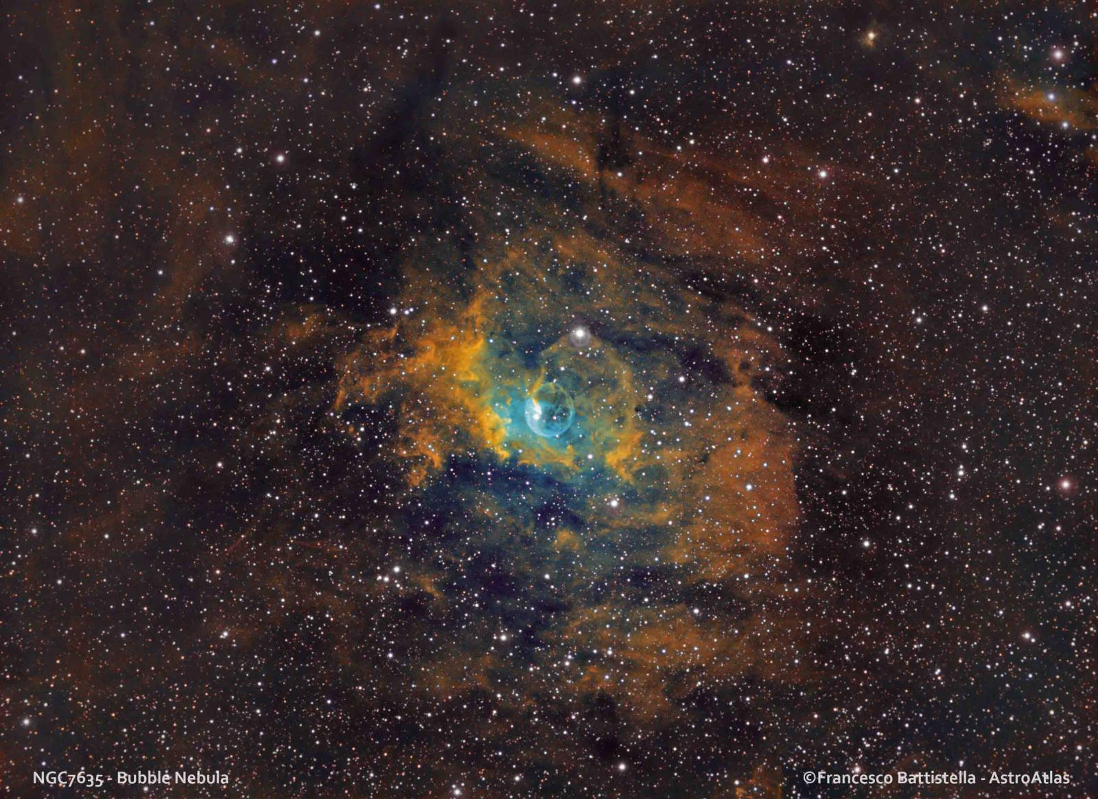 NGC Bubble Nebula Hubble Palette And HSO CCDCMOS Astro - Heres hubbles first ever picture of the entire bubble nebula