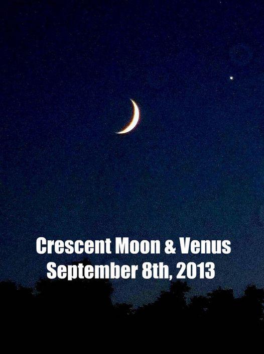 Waxing Crescent Moon & Venus 9-8-13.jpg