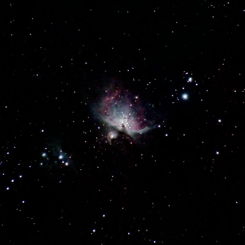 Orion Nebula with 70 to 300mm Zoom and Nikon D5100.jpeg