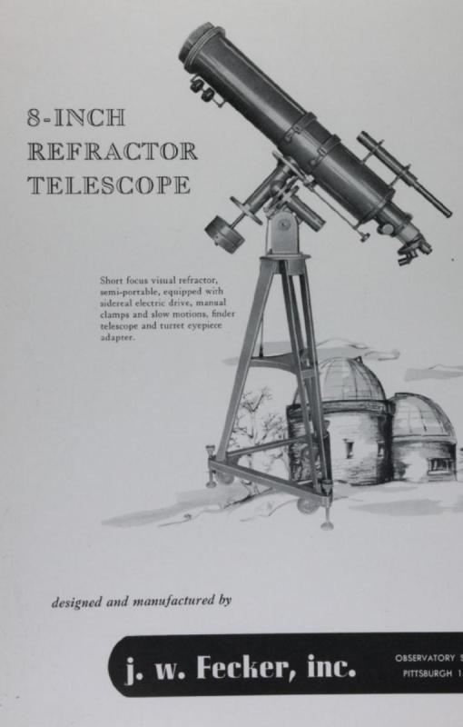 J.W. Fecker 1950 8 inch refractor  richfield.jpg