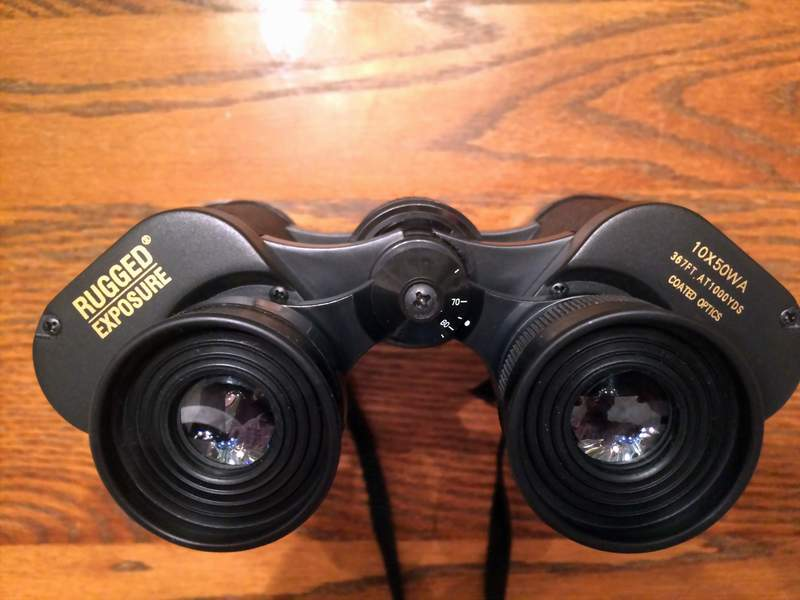 Charming Rugged Exposure 10x50 Wide Angle Binocular, Near Mint Condition Sold!