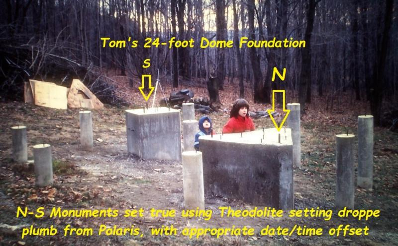 64 24-ft dome foundation N-S monuments theodolite.jpg
