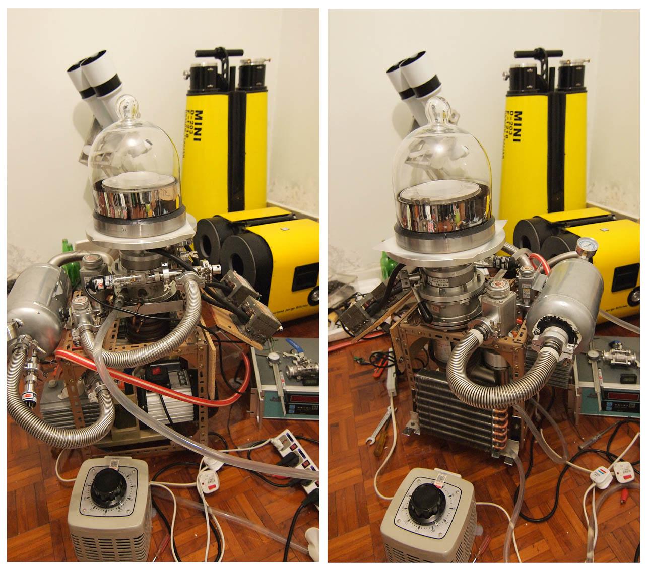 Vacuum chamber for telescope coating