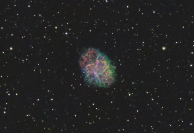 The Crab Nebula (Messier 1) in SHO - Experienced Deep Sky