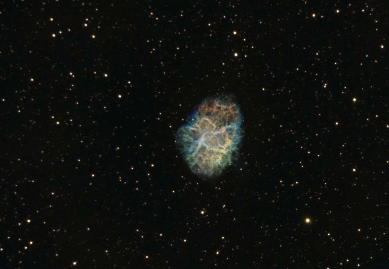 The Crab Nebula (M1) in SHO - Experienced Deep Sky Imaging